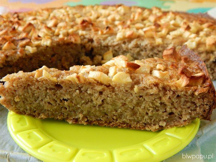 Ciasto z wiórkami po mleku kokosowym, bez cukru