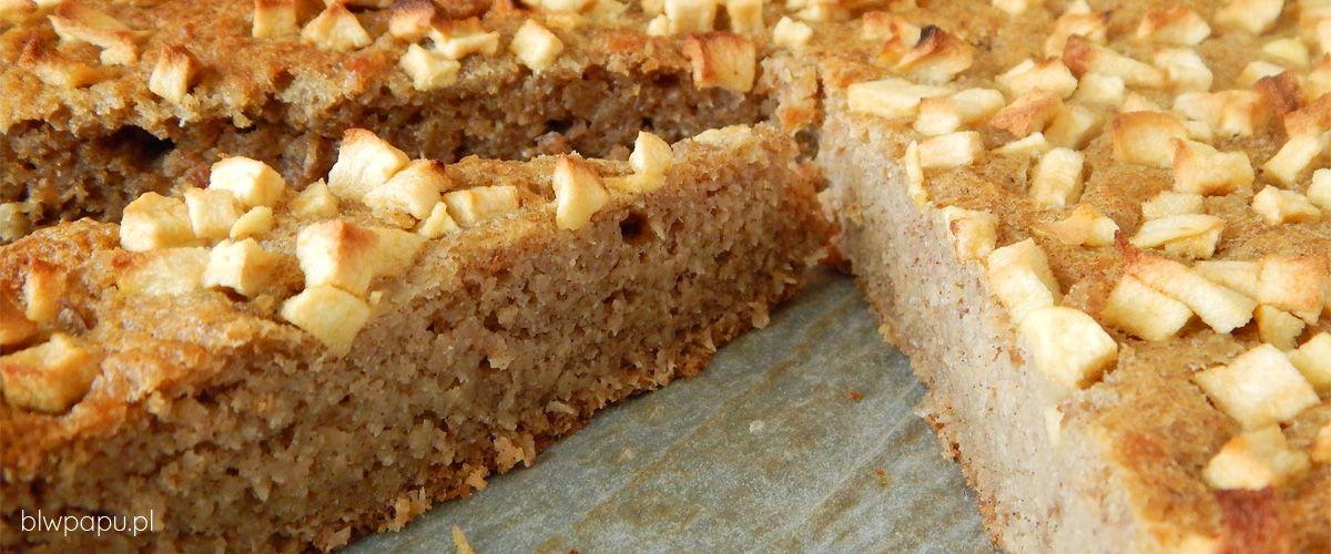 Ciasto z wiórkami kokosowymi (pulpą po mleku), bez cukru