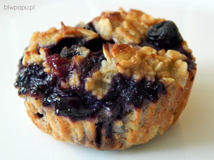 Muffinki owsiano-borówkowe