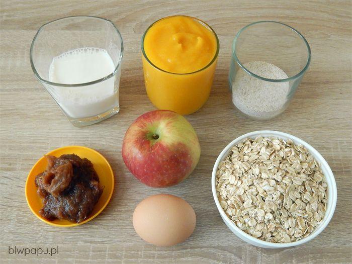 Muffinki owsiano-dyniowe z jabłkiem - składniki