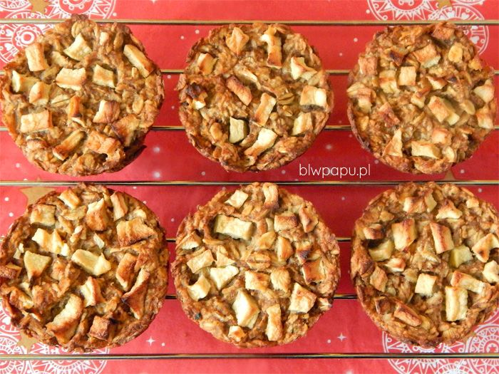 Świąteczne, piernikowe muffinki owsiano-jabłkowe