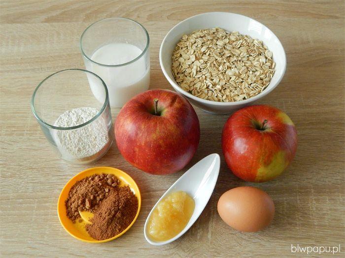 Piernikowe babeczki owsiane z jabłkami - składniki